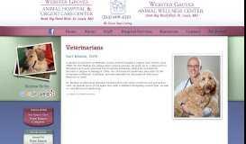 Dr. Bedow - Webster Groves Animal Hospital