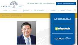 Dr. Michael Khair | Knee, Hip & Shoulder Surgeon ... - The Carrell Clinic