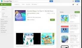 Dumb Ways To Die 3 : World Tour - Apps on Google Play