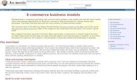 E-commerce business models (in Business > E-commerce ... - Ius mentis