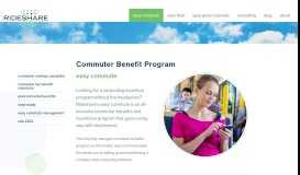 Easy Commute Commuter Program | The Rideshare Company