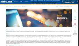 Easy Payments - Bill Pay Service | Bill Payment Portal ... - Federal Bank