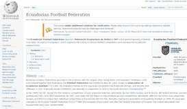 Ecuadorian Football Federation - Wikipedia
