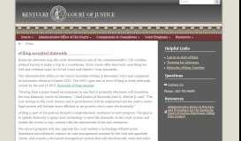 eFiling accepted statewide - Kentucky Court of Justice