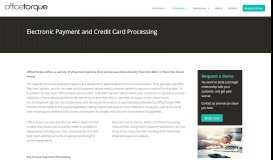 Electronic Payment | OfficeTorque FRM Electronic Payment