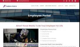 Employee Portal | Ameri-Force | Professional Staffing Services