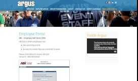 Employee Portal | Denver Event Management Jobs | Argus