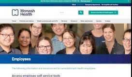 Employee Self Service - Staff Portals - Monash Health