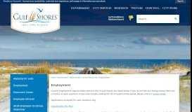 Employment | Gulf Shores, AL - Official Website - City of Gulf Shores