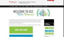 Engineering Career Centre - McGill University