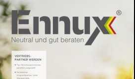 Ennux: Direktvertrieb für Strom- und Gasprodukte