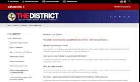 Enrollment / FAQ Home Access Center