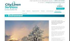 Environment - City Linen Services