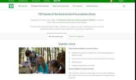 Environmental Grants & Funding for Environmental Projects | TD FEF