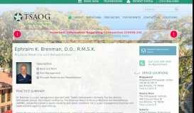 Ephraim K. Brenman   The San Antonio Orthopaedic Group