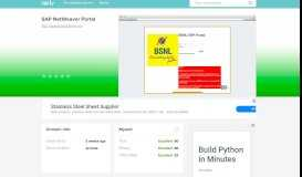 eportal.erp.bsnl.co.in - SAP NetWeaver Portal - E Portal Erp Bsnl