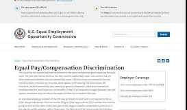 Equal Pay and Compensation Discrimination - EEOC
