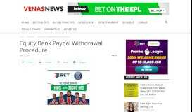 Equity Bank Paypal Withdrawal Procedure – Venas News