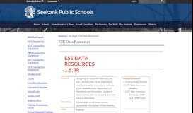 ESE Data Resources - Seekonk