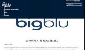 Europasat is now bigblu - bigblu