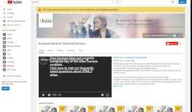 European Bank for Financial Services - YouTube