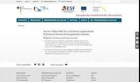 Europäischer Sozialfonds für Deutschland - ESF- Programme