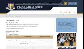 Exam Results - St Paul's Catholic College, Surrey