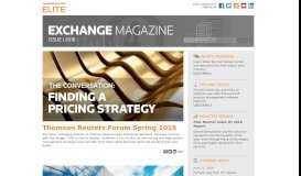 Exchange Magazine - Issue I 2018 - Thomson Reuters Elite
