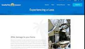 Experiencing a Loss - Security First Insurance
