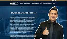 Facultad en Ciencias Jurídicas – UNIVO