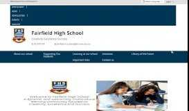 Fairfield High School - Home