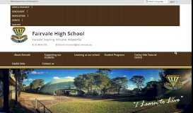 Fairvale High School: Home