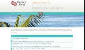 FAQ - Cedars-Sinai Benefits Portal - MyBenefitChoice