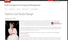 Fashion and Textile Design | Textile and Apparel, Technology and ...