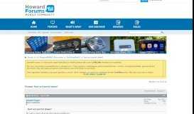 Fast act portal down? - HowardForums