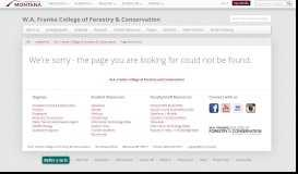 FCFC Scholarships - W.A. Franke College of Forestry & Conservation ...