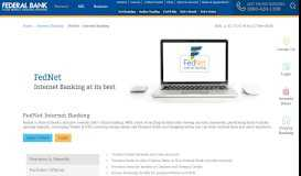 FedNet Internet Banking | Online Banking Services | Federal Bank | India