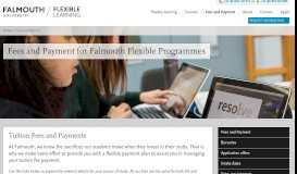Fees and Payment   Falmouth Flexible   Online MA Programmes