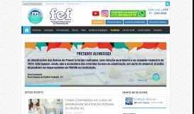 FEF - Home - Graduação, Cursos Técnicos, Pós-Graduação - Bolsas ...