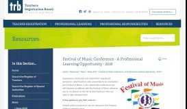 Festival of Music Conference - A Professional Learning Opportunity