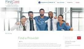 Find Your Health Care Provider with the FirstCare Directory - FirstCare