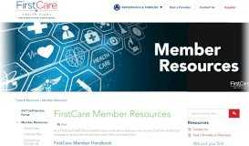 FirstCare Member Resources - FirstCare
