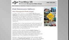FleetWise VB - Fleet Maintenance   Fleet Management Software