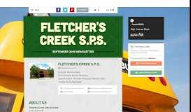 Fletcher's Creek S.P.S. | Smore Newsletters for Education