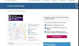 Florida Hospital Flagler   MedicalRecords.com