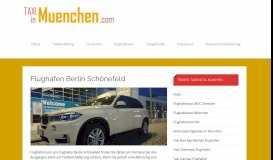 Flughafen Berlin Schönefeld   Taxi München – Das Taxiportal