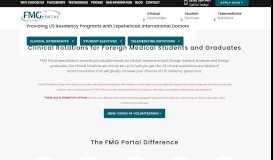 FMG Portal – Your Gateway to Successful Residency Placement