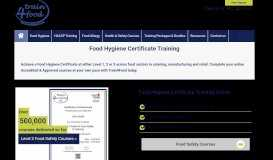 Food Hygiene Certificate | Online Food Safety Courses