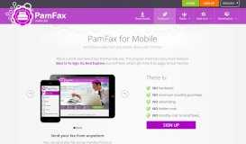For Mobile devices - PamFax