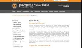 For Parents - Canutillo Independent School District